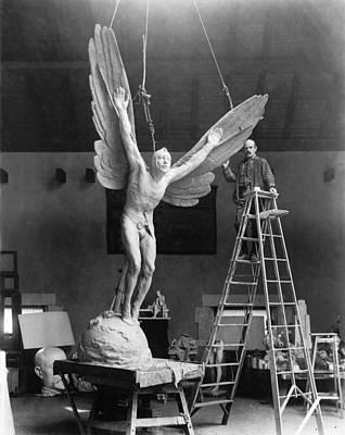 Sculptor Gutzon Borglum 1871-1941 Poster by Everett