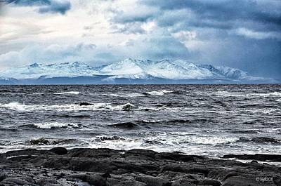Sea And Mountain In Winter Poster