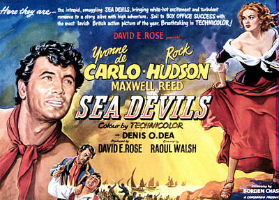 Sea Devils, First And Fourth From Left Poster by Everett