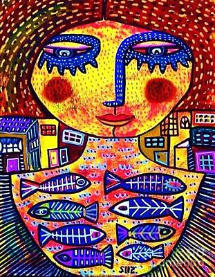 Sea Goddess Poster by Sandra Silberzweig