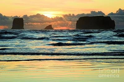 Sea Stack Sunset Poster by Adam Jewell