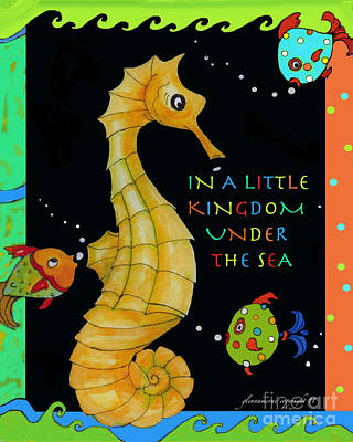 Poster featuring the painting Seahorse And Friends by Glenna McRae
