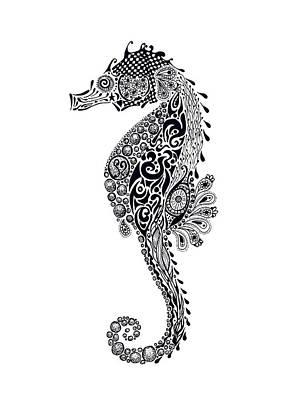 Seahorse Poster by Jacqueline Eden