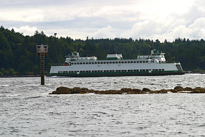 Poster featuring the photograph Sealth Ferryboat Rich Passage by Kym Backland