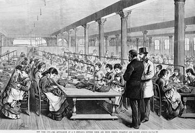 Seamstresses At Long Tables Poster by Everett