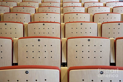 Seating In A Traditional Music Center Poster