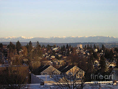 Seattle Suburb In Winter Poster