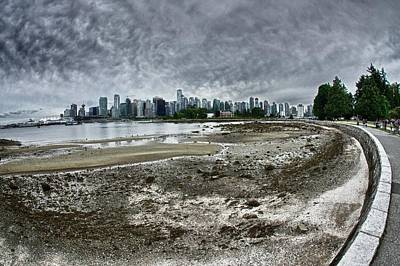 Poster featuring the photograph Seawall To Vancouver by Scott Holmes
