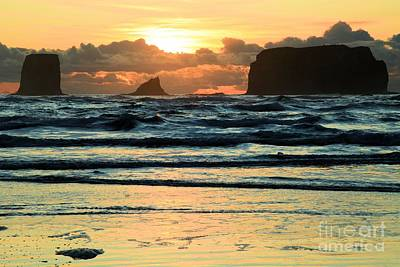 Second Beach Sunset Poster by Adam Jewell