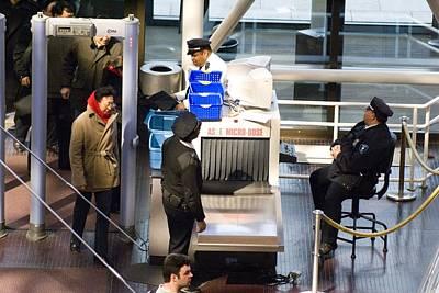 Security Checks At Washington Dc Museum Poster