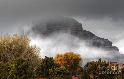 Poster featuring the photograph Sedona Fog by Tam Ryan