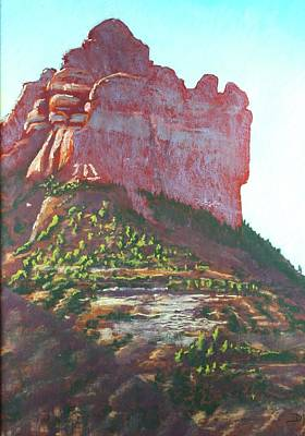 Poster featuring the painting Sedona Shadows by Drusilla Montemayor