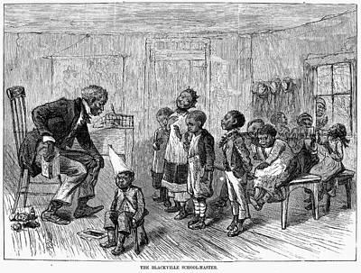 Segregated School, 1879 Poster