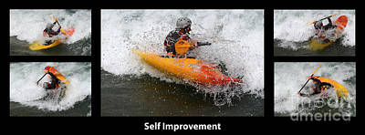 Self Improvement With Caption Poster by Bob Christopher