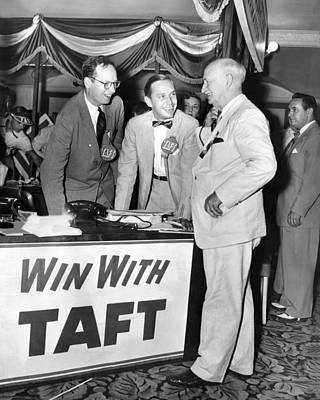 Senator Robert Tafts Two Sons Promote Poster by Everett