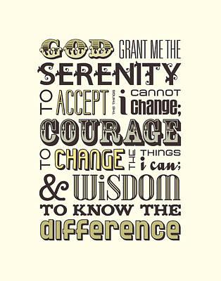 Serenity Prayer Poster by Megan Romo