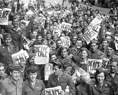 Service Men And Women Send Up Cheers Poster