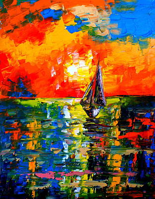 Seven Oceans Away Poster by Artist Singh