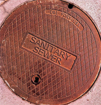 Sewer Cover Poster by Bill Owen