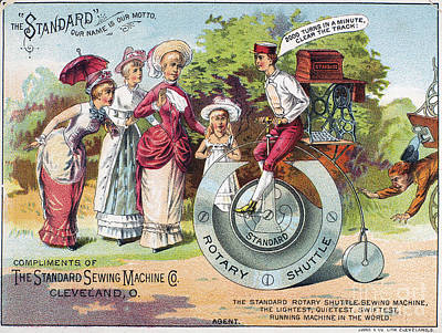 Sewing Machine Trade Card Poster