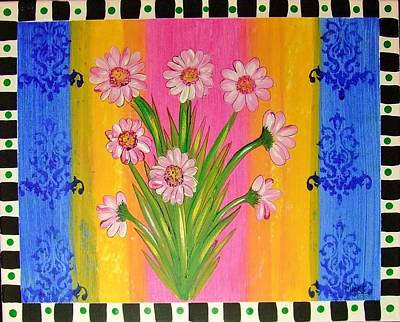 Shabby Chic Daisy Poster by Cindy Micklos