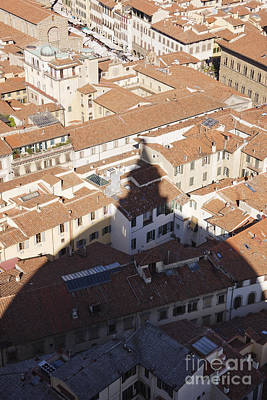 Shadow Of The Duomo On Buildings Of Florence Poster