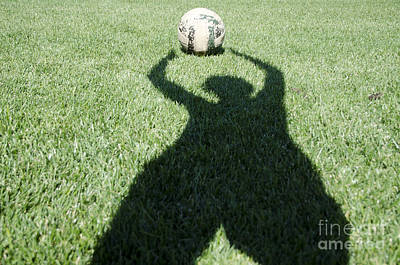 Shadow Playing Football Poster