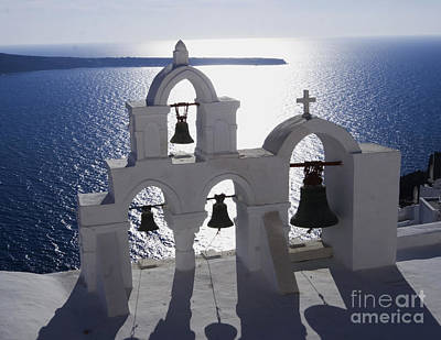 Shadows Of Santorini Poster by Leslie Leda