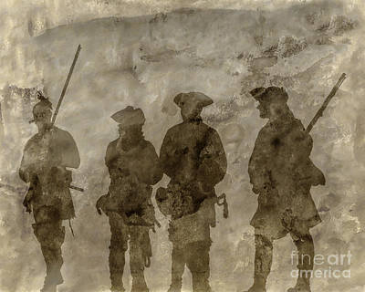 Shadows Of The French And Indian War Poster by Randy Steele