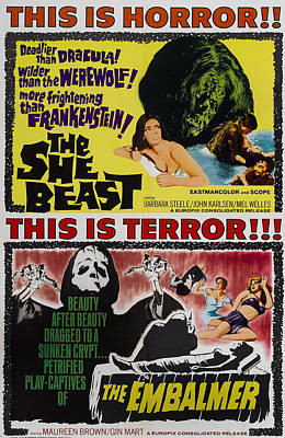She-beast, On A Double Bill Poster Poster by Everett