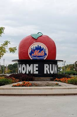 Shea Stadium Home Run Apple Poster by Rob Hans