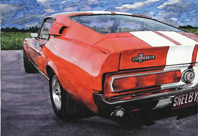 Poster featuring the painting Shelby Gt500 by Rod Seel