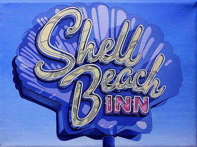 Shell Beach Inn Poster by Jeff Taylor