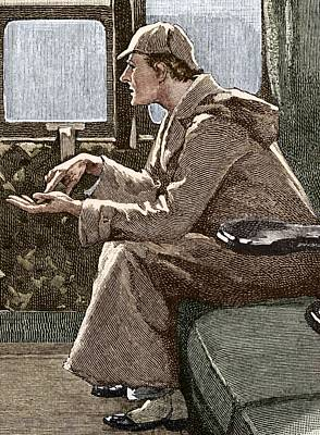 Sherlock Holmes Poster by Sheila Terry