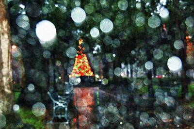 Shiny Tree In Bienville Square Poster by Michael Thomas