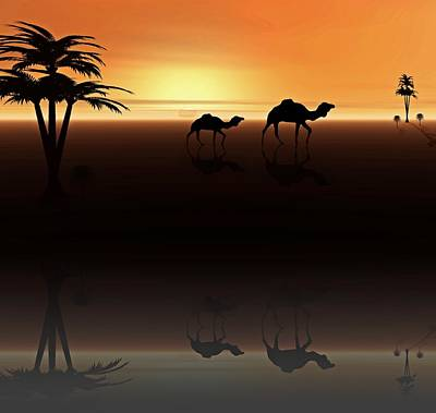 Ships Of The Desert Poster by David Dehner