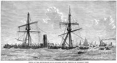 Shipwrecks, 1875 Poster
