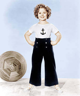 Shirley Temple, Studio Portrait, Ca Poster by Everett