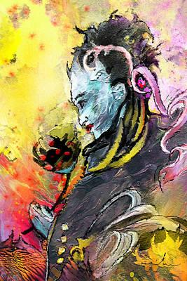 Shiva Diva Poster by Miki De Goodaboom