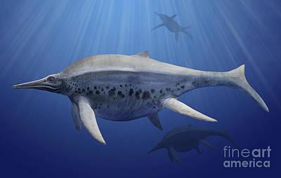 Shonisaurus Popularis Swimming Poster
