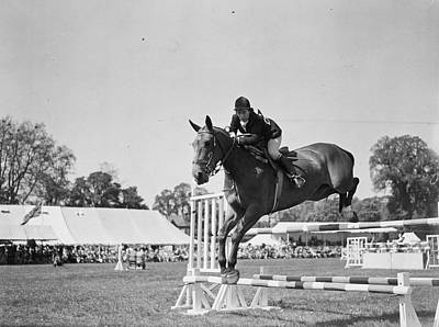 Show Jumping Poster by J A Hampton