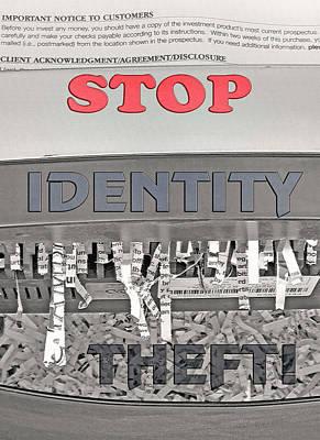 Shred Your Identity 2 Poster by Steve Ohlsen