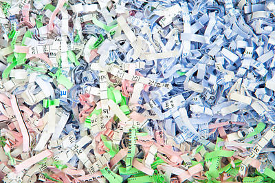 Shredded Paper Poster