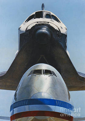 Shuttle Carrier Aircraft Poster by Science Source