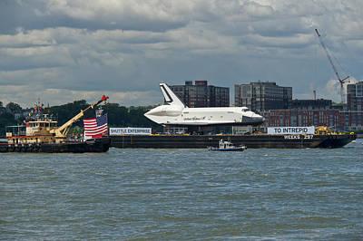 Shuttle Enterprise Flag Escort Poster by Gary Eason