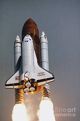 Shuttle Lift-off Poster by Science Source