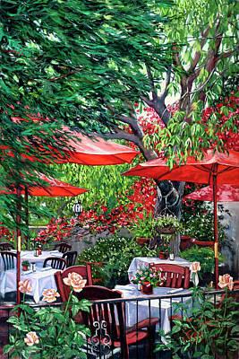 Sidewalk Cafe Poster by Lisa Reinhardt
