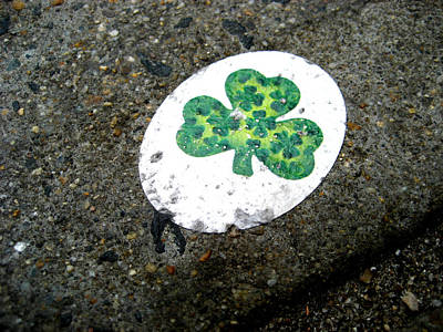 Sidewalk Shamrock Poster by Sheryl Burns