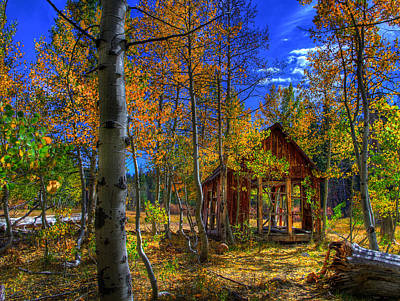 Sierra Nevada Fall Colors Barn Poster by Scott McGuire