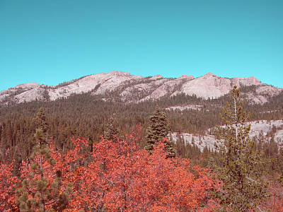 Sierra Nevada Mountain Poster by Naxart Studio